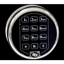 S&G 6120 Keypad - Single Battery - Chrome