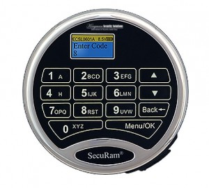 SecuRam L02 Keypad - Chrome