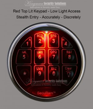 SecuRam Safelogic Toplit Keypad - Chrome