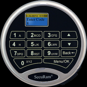 SecuRam L22 Keypad - Surelock - Chrome